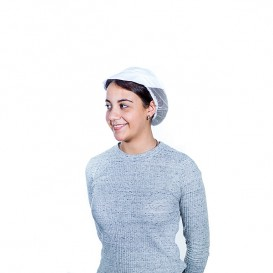 Cap with Mesh and Visor Cotton White (25 Units)