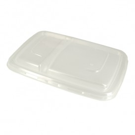 Pokrywka Plastikowe PP Pojemniki Trzciny Cukrowej 2C 23x16,5cm (50 Sztuk)