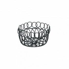 Koszyk Stalowy Snackholder Okrągłe Stal Czarni Ø190x100mm (1 Sztuk)