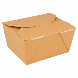 """Paper Take-out Container """"American"""" Natural 1,13x0,90x0,64cm 600ml (50 Units)"""