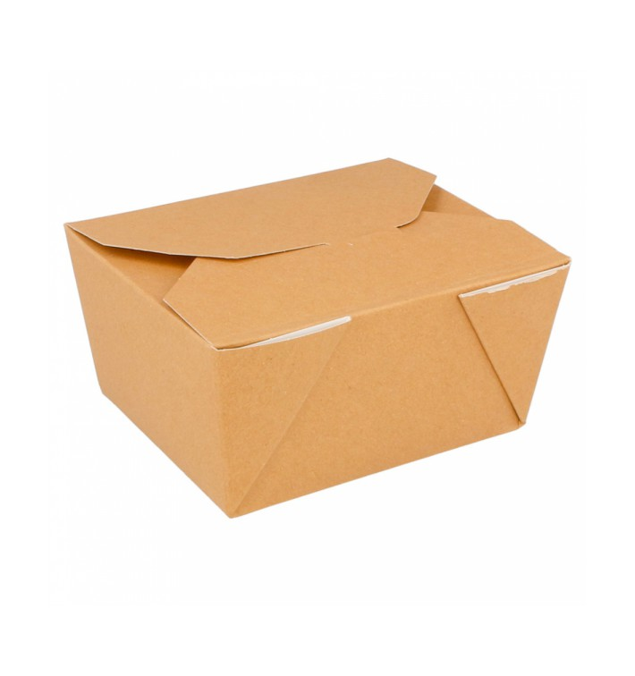 Pudełka na Wynos Kartonowe Amerykanin Naturalne 11,3x9x6,4cm 780ml (450 Sztuk)