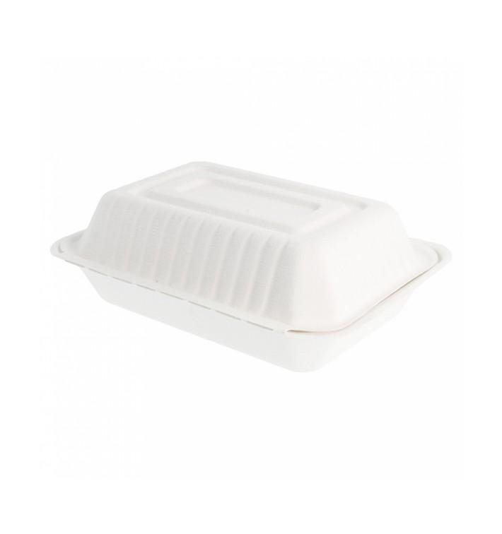 Opakowania MenuBox Trzciny Cukrowej Białe 225x165x64mm (50 Sztuk)