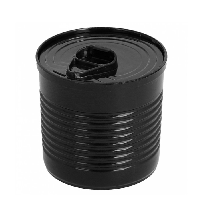 Tasting Plastic Tin Can PS Black 110ml Ø6x5,7cm (200 Units)