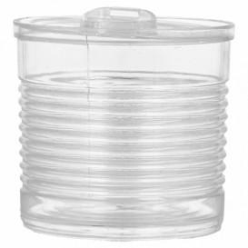 Tasting Plastic Tin Can PS Clear 220ml Ø7,4x7cm (20 Units)