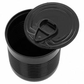 Tasting Plastic Tin Can PS Black 220ml Ø7,4x7cm (20 Units)