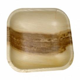 Mini Talerz Kwadratowi Liści Palmowych 11,5x11,5x1,5cm (25 Sztuk)