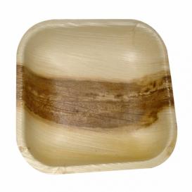 Mini Talerz Kwadratowi Liści Palmowych 11,5x11,5x1,5cm (200 Sztuk)