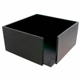 Serwetnik Bambusowe Czarni 21x21x10cm (1 Sztuk)