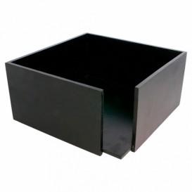 Black Bamboo Napkin Holder 21x21x10cm (12 Units)