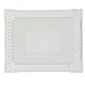 Tacki Papierowe Ozdobne Białe 18x25 cm (100 Sztuk)