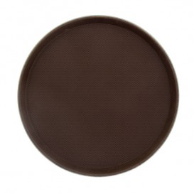 Tacki PP Okrągłe Antypoślizgowa Brązowe Ø35,5cm (1 Sztuk)