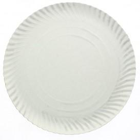 Talerz Papierowe Okrągłe Białe 140 mm 450g/m2 (1.200 Sztuk)