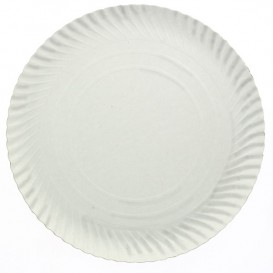 Talerz Papierowe Okrągłe Białe 250 mm 600g/m2 (500 Sztuk)