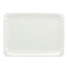Tacki Papierowe Prostokątny Białe 16x22 cm (100 Sztuk)