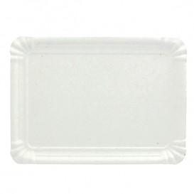Tacki Papierowe Prostokątny Białe 12x19 cm (100 Sztuk)