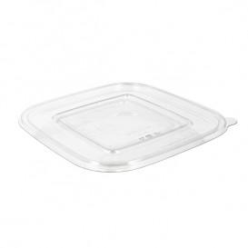 Wieczko Płaskie Plastikowe na Miski PET 190x190mm (50 Sztuk)