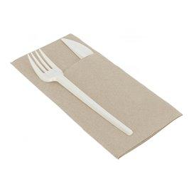 Cutlery Pocket Fold Napkin Papierowe Eco 40x40cm (30 Units)