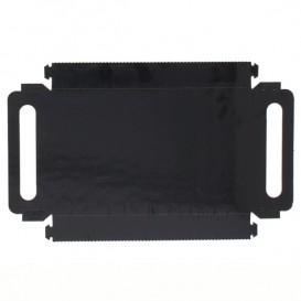 Tacki Papierowe Prostokątny Czarni z Uchwytami 22x28 cm (100 Sztuk)