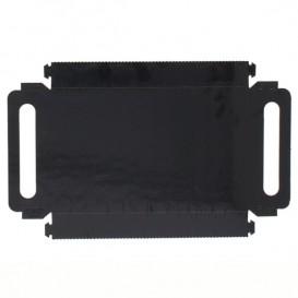 Tacki Papierowe Prostokątny Czarni z Uchwytami 32x7,5 cm (100 Sztuk)