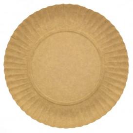 Paper Plate Round Shape Kraft 25cm (500 Units)