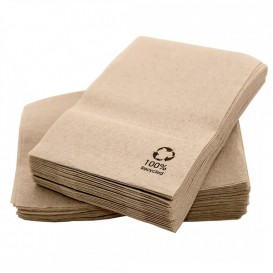 Paper Napkins Miniservis Eco Kraft 17x17cm (200 Units)