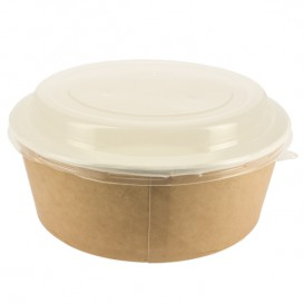 Paper Soup Bowl with Lid Kraft PP 38 Oz/1120 ml (25 Units)