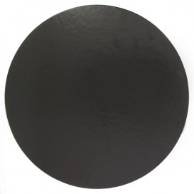 Podkładka Papierowa Pod Tort Czarni 240 mm (100 Sztuk)