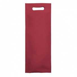 Non-Woven Bag with Die-cut Handles Burgundy 17+10x40cm (25 Units)