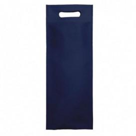Non-Woven Bag with Die-cut Handles Navy Blue 17+10x40cm (200 Units)
