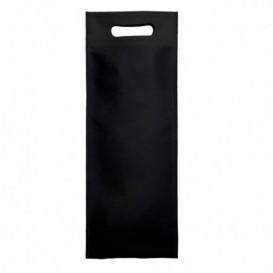 Non-Woven Bag with Die-cut Handles Black 17+10x40cm (200 Units)