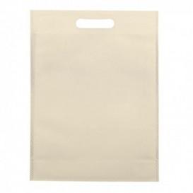 Non-Woven Bag with Die-cut Handles Cream 30+10x40cm (200 Units)