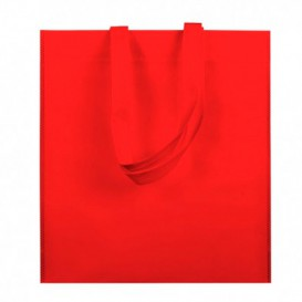 Non-Woven Bag with Short Handles Red 38x42cm (25 Units)