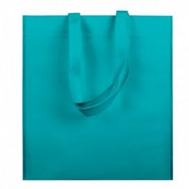 Non-Woven Bag with Short Handles Aquamarine 38x42cm (25 Units)