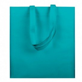 Non-Woven Bag with Short Handles Aquamarine 38x42cm (200 Units)