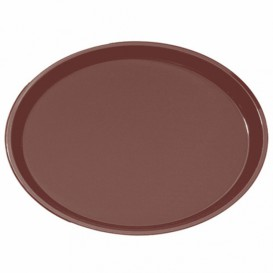 Tacki PP Oval Antypoślizgowa Brązowe 67,0x55,5cm (6 Sztuk)