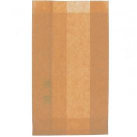 Paper Burger Bag Grease-Proof Burger Design Kraft 12+6x20cm (250 Units)