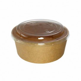 Paper Container Kraft-Kraft with RPET Lid 19 Oz/550 ml (50 Units)