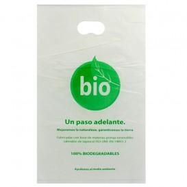 Die-Cut Handle Plastic Bags 100% Biodegradable 20x33cm (100 Units)