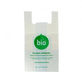 Plastic T-Shirt Bag 100% Biodegradable 35x45 cm (100 Units)