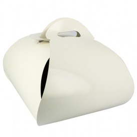 Pudełka Papierowe Motyle na Ciasto 22x22x13cm (25 Sztuk)