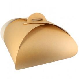 Pudełka Papierowe Kraft Motyle na Ciasto 22x22x13cm (25 Sztuk)