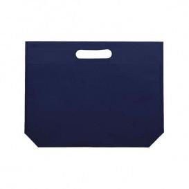Non-Woven Bag with Die-cut Handles Electric Blu 34+8x26cm (25 Units)