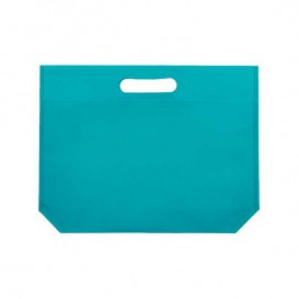 Non-Woven Bag with Die-cut Handles Aquamarine 34+8x26cm (200 Units)