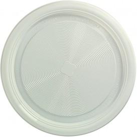 Talerz Skrobia Kukurydziana PLA Płaski Białe Ø170 mm (25 Sztuk)