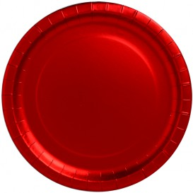 """Paper Plate Round Shape """"Party"""" Red 33cm (3 Units)"""