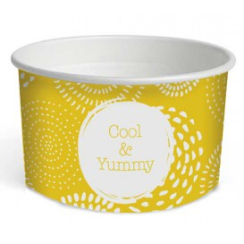 """Paper Ice Cream Container """"Cool&Yummy"""" 5oz/140ml (1000 Units)"""