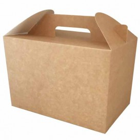 Paper Menu Box Kraft 22,5x14,5x15cm (25 Units)