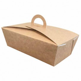 Paper Menu Box Kraft 1,31x1,31x1,15cm (25 Units)