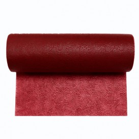 Non-Woven PLUS Tablecloth Roll Burgundy 0,4x50m P30cm (1 Unit)