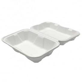 Opakowania MenuBox Trzciny Cukrowej Białe 23x15x7,7cm (200 Sztuk)